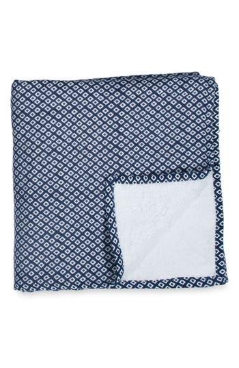 Uchino Zero Twist Print Washcloth, Size One Size - Blue