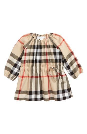 Infant Girl's Burberry Mini Kadyann Check Flannel Dress