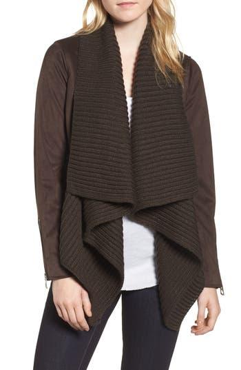 Women's Lucky Brand Faux Suede & Knit Jacket