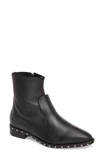Women's Topshop Aiden Stud Sock Boot, Size 5.5US / 36EU - Black