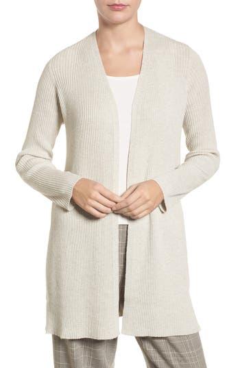Petite Women's Eileen Fisher Long Wool Cardigan