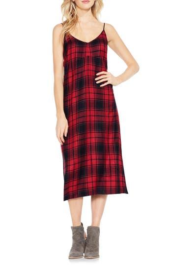 Stateside Plaid Maxi Dress, Red