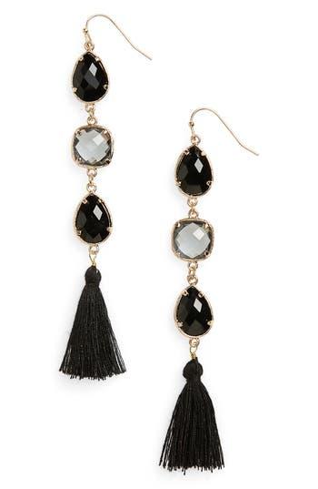 Women's Panacea Crystal Tassel Earrings