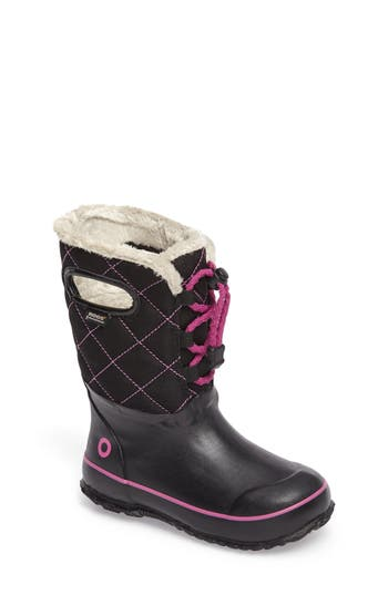 Toddler Girl's Bogs Juno Faux Fur Insulated Waterproof Boot