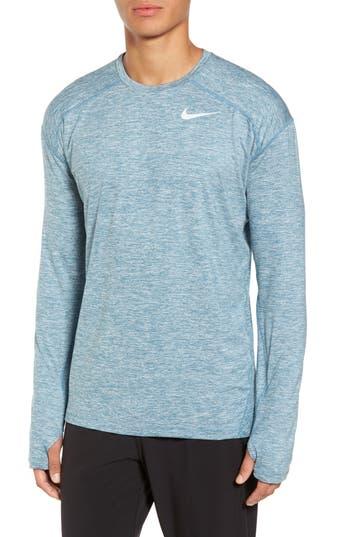 Nike Running Dry Element Long Sleeve T-Shirt, Blue