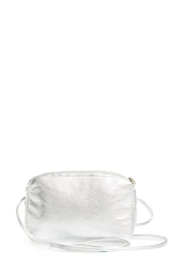 Baggu 'Mini' Pebbled Leather Crossbody - Metallic