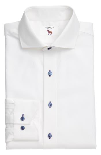 Men's Lorenzo Uomo Trim Fit Texture Stripe Dress Shirt