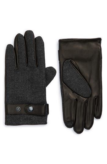 Men's Nordstrom Men's Shop Herringbone Gloves