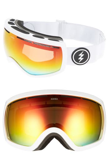 Women's Electric Eg2.5 Snow Goggles - Gloss White/ Red Chrome