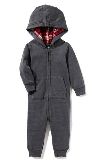 Infant Boy's Peek Hooded Romper
