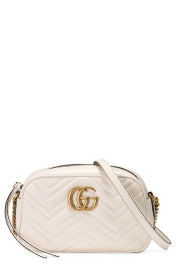 Gucci Gg Marmont 2.0 Matelasse Leather Camera Bag - White