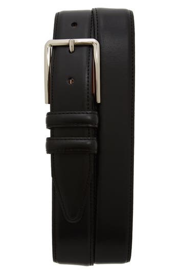 Big & Tall Nordstrom Shop Mercer Leather Belt, Black
