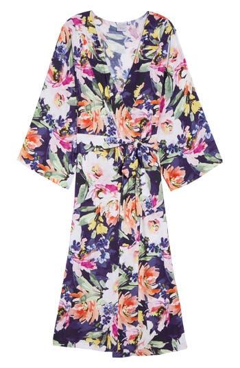Women's Plum Pretty Sugar Long Floral Kimono Robe