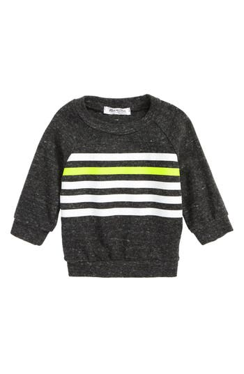 Infant Boy's Joah Love Stripe Sweater, Size 6M - Grey