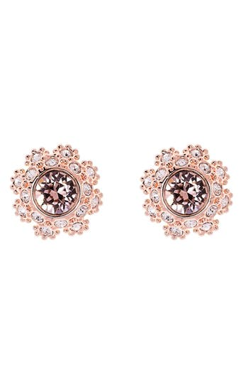 Ted Baker London Crystal Daisy Lace Stud Earrings