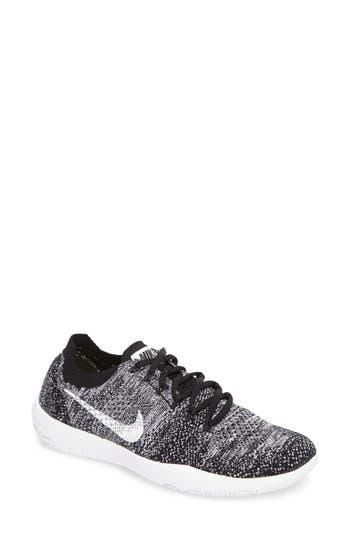 6a50e20d28e9f Nike Free Focus Flyknit 2 Training Shoe In Black  Black  White ...