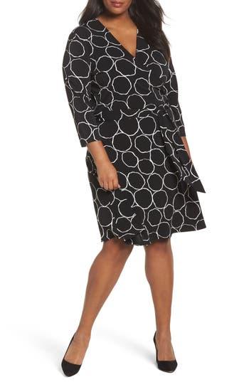 Plus Size Women's Leota Wrap Dress, Size 1X - Black