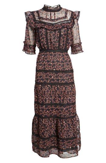1920s Downton Abbey Dresses Womens Topshop Ruffle Tier Maxi Dress $125.00 AT vintagedancer.com