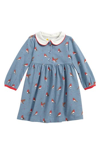 1930s Childrens Fashion: Girls, Boys, Toddler, Baby Costumes Toddler Girls Mini Boden Robins Peter Pan Collar Dress $42.00 AT vintagedancer.com