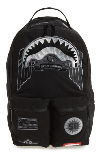 Sprayground Ghost Army Patches Backpack - Black