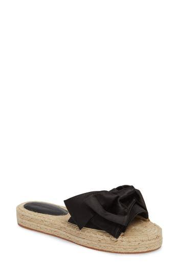Rebecca Minkoff Giana Bow Slide Sandal, Black