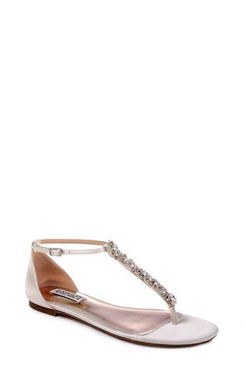 Badgley Mischka Holbrook T-Strap Sandal, White