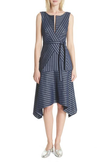 a65444c3a6 Tracy Reese Directional Stripe A-Line Dress