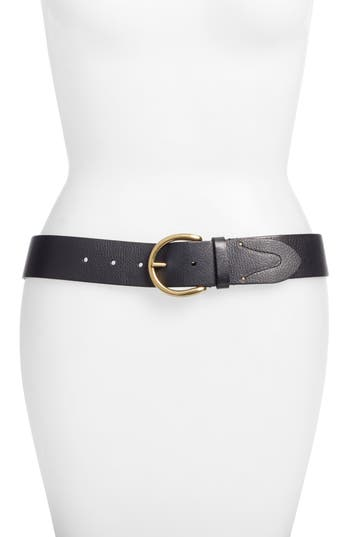 Campus Leather Belt, Black