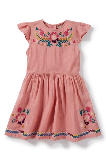 1940s Children's Clothing: Girls, Boys, Baby, Toddler Toddler Girls Peek Delilah Embroidered Dress $58.00 AT vintagedancer.com