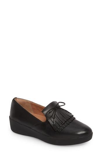 Fitflop Superskate Fringe Loafer, Black