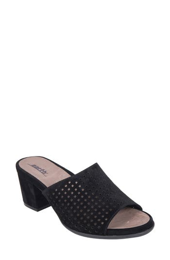 Earth Ibiza Perforated Sandal- Black