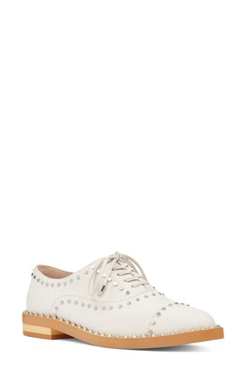 Nine West Garroy Oxford Flat- White