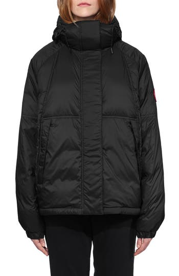 Canada Goose Campden Water Resistant Hooded Down Jacket, (10-12) - Black