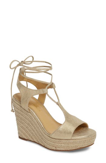 Splendid Fianna Espadrille Wedge Sandal- Metallic