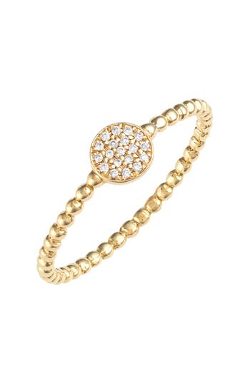 Women's Bony Levy 'Aurora' Diamond Pave Circle Ring (Nordstrom Exclusive)