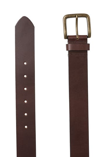 Rodd & Gunn Francis St. Leather Belt, Mud