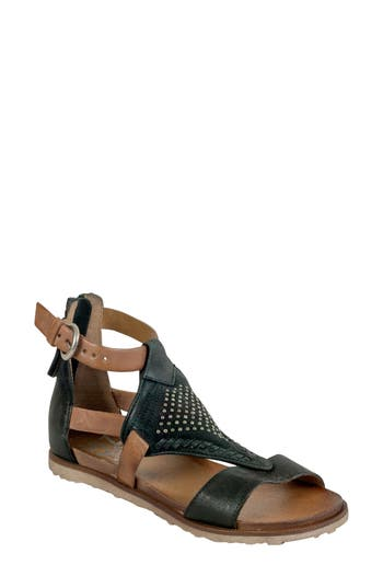 Women's Miz Mooz Tessa Studded Diamond Sandal, Size 36 EU - Black