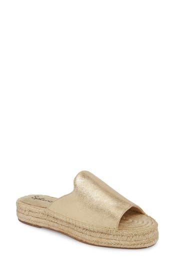 Women's Splendid Franci Espadrille Slide Sandal, Size 8.5 M - Metallic