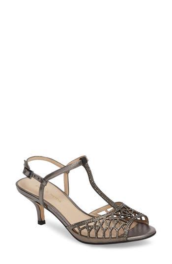 Women's Pelle Moda Adaline Embellished Sandal, Size 5 M - Metallic