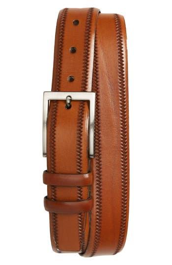 Big & Tall Torino Belts Embossed Leather Belt, Walnut