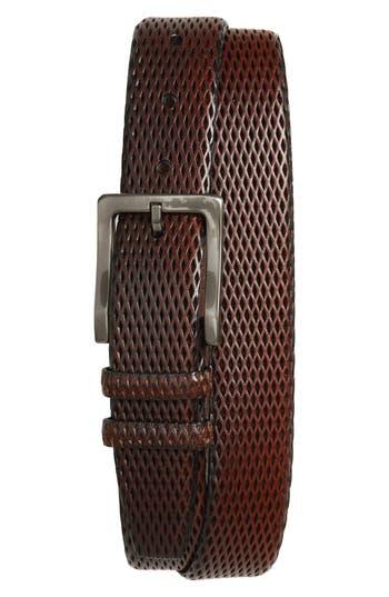 Big & Tall Torino Belts Embossed Leather Belt, Mahogany