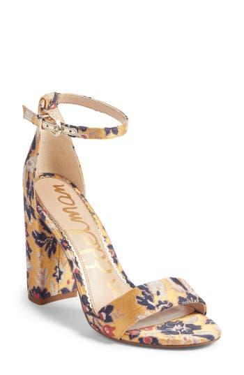Women's Sam Edelman Yaro Ankle Strap Sandal, Size 10 M - Yellow