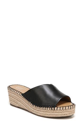 Women's Sarto By Franco Sarto Pinot Platform Wedge Slide Sandal, Size 8.5 M - Black