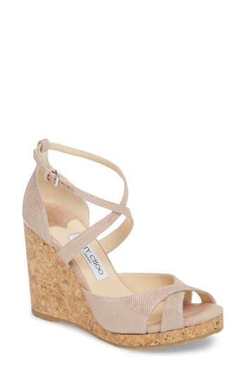Women's Jimmy Choo Alanah Espadrille Wedge Sandal, Size 7US / 37EU - Pink