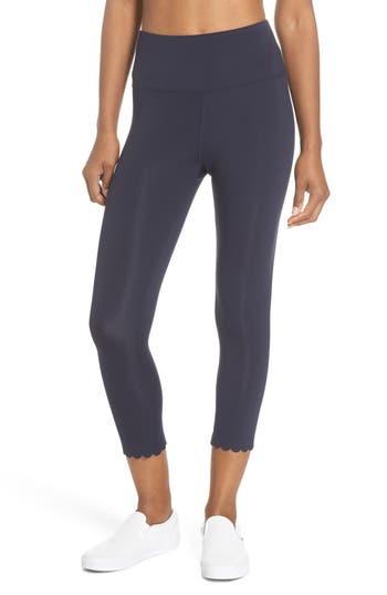 Kate Spade New York Scallop Crop Leggings, Blue