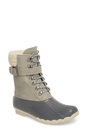 Sperry Shearwater Water-Resistant Genuine Shearling Lined Boot, Grey