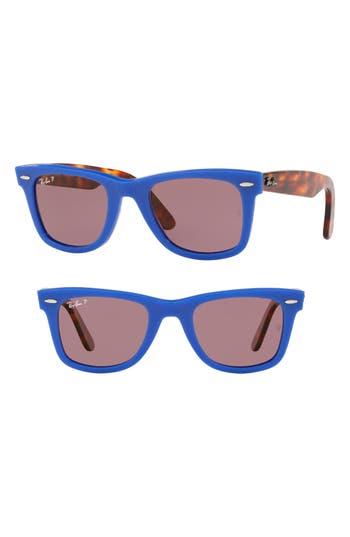 Ray-Ban Standard Classic Wayfarer 50Mm Polarized Sunglasses - Blue