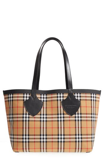 Burberry Giant Vintage Reversible Tote - Yellow