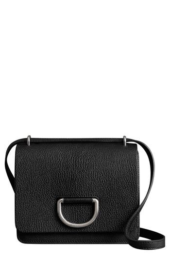 Burberry Small D-Ring Leather Crossbody Bag - Black