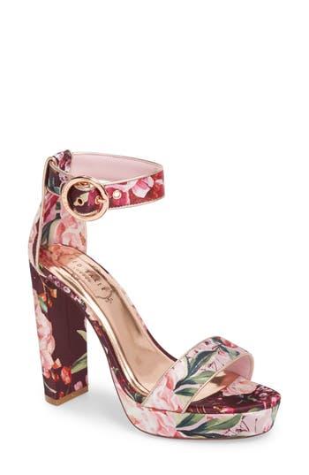 Women's Ted Baker London Jewll Ankle Strap Sandal, Size 6 M - Pink